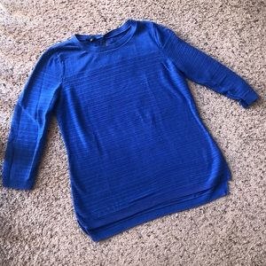 Talbots blue 3/4 sleeved blue top, small